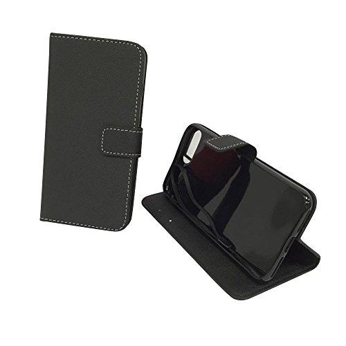 König-Shop - Handyhülle Schutz Tasche Case Cover Wallet Kunstleder 360 Grad Standfunktion, Farbe:Marshmallows, Größe:Apple iPhone 7 Plus Onyx Schwarz