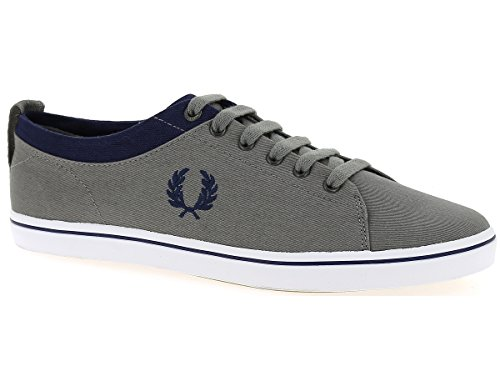 Fred Perry Hallam Twill Falcon Grey Carbon Blue B8272D19, Turnschuhe Bleu Marine