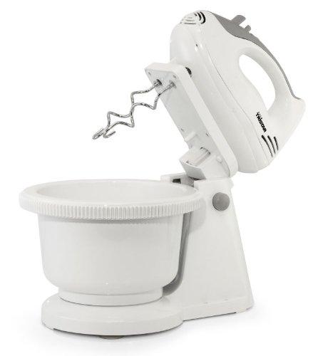 Küchenmaschine Handmixer mit ca. 2 Liter Rührschüssel Rührmaschine Mixer Knet-Maschine Schneebesen Mixer weiß (200 Watt + Rührschüssel mit automatischen Antrieb)