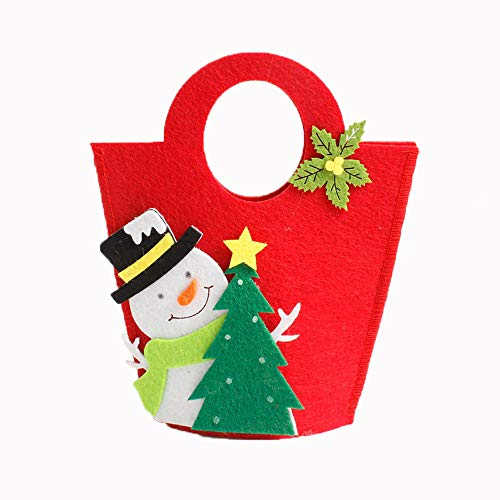 Sylar Bolsa, Lindo Diseño Bolso Casero Creativo del Caramelo del Recuerdo del Bolso De La Navidad del Partido(19x16cm)