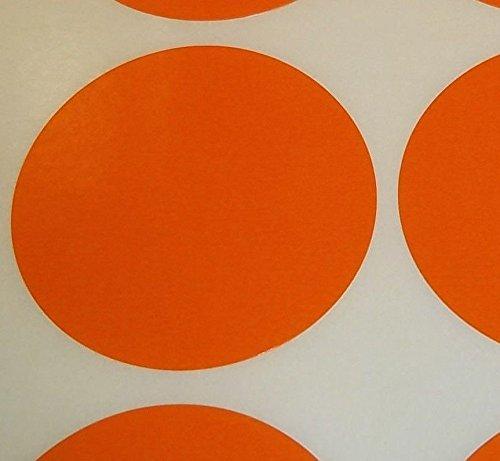 Pack Of 100 Grande 63mm Redondo / Circular Código De Color Lunares En blanco Precio Pegatinas Etiquetas - Elija Su Color/s (Naranja)