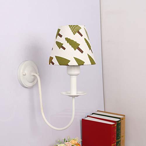 Modernes Wandleuchten Vintage LoftWandlampen Design Wandbeleuchtung Wandlampe Wandlampe Schmiedeeisen Wandlampe Nachttischlampe Mediterrane Wohnzimmerlampe ländlicher Garten,weißes Licht,quadratisch