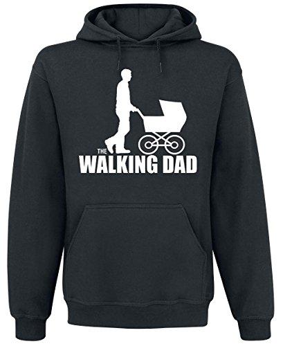 The Walking Dad Felpa con cappuccio nero XXL