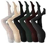Rogotex - Collant da donna in lana vergine, 1 paio, diversi Colori, taglia S - XL - Comodo elastico, opaco inverno nero grigio beige - fino alla taglia 62, colore: nero, taglia: 40/42