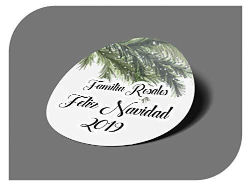 CrisPhy - Adesivi Personalizzati per Regali di Natale, Etichette adesive per invito, Matrimonio, Battesimo, Fidanzamento, Comunione, Compleanno, Festa, Vintage