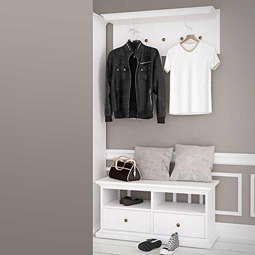 Pharao24 Garderobenset im skandinavisches Landhausstil Weiß
