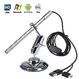Microscope Numérique USB Endoscope Portable HD 2 en 1 200x loupe Caméra d'inspection étanche IP67 pour OTG Android Smartphone Tablette, Windows & Mac PC Ordinateur de Flylinktech