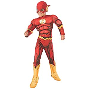 Rubie's Official DC Superhero The Flash Deluxe Child's Costume, Child's Size Medium Age 5-7 Years
