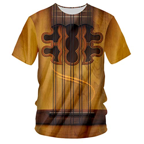Kunst Musikinstrument Sommer 3D Full Printing Mode T-Shirt Hip Hop Style Streetwear Casual Guitar XXL