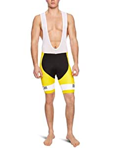 Nalini Bianchi Malliot Jaune Men's Bib Shorts - Yellow, Large