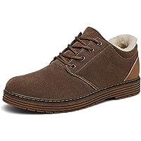 Bosleng Botines Hombre Mujer Zapatos Invierno Calientes Forradas Clasicas Cordones Boots