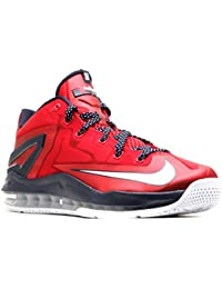 huge selection of fbe6b 54077 Nike Max Lebron XI Low Men Sneakers University Red Obsidian White 642849-614