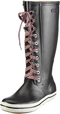 Viking Retro W Striped Laces, Damen Langschaft Gummistiefel, Schwarz (Black 2), 35 EU