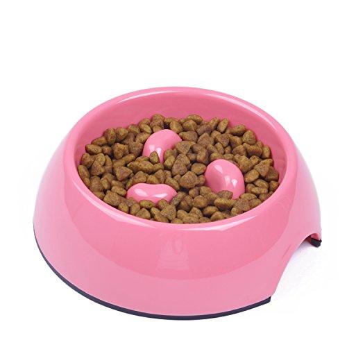 SuperDesign Comedero Lento en Melamina, Comedero Antivoracidad Antideslizante para Perros y Gatos, Ralentizar la comida