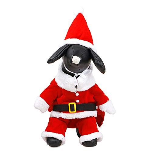 (Funnyrunstore Weihnachtsmann verwandelte Sich in einen Hundekleid Teddy Bear Herbst und Winter Party warme Haustierkleidung (S))