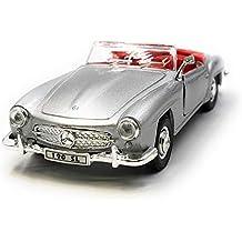 Onlineworld2013 Modelo de automóvil Mercedes Benz 190 SL automóvil clásico descapotable de Plata Escala 1: