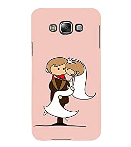 Married Couple Clipart 3D Hard Polycarbonate Designer Back Case Cover for Samsung Galaxy E7 (2015) :: Samsung Galaxy E7 Duos :: Samsung Galaxy E7 E7000 E7009 E700F E700F/DS E700H E700H/DD E700H/DS E700M E700M/DS