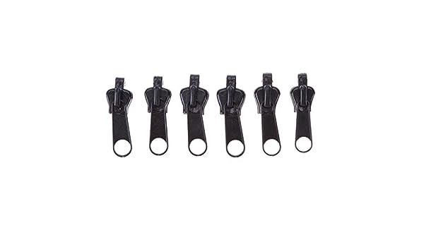 Zerama 6pcs Universal Instant Fix Zipper Repair Kit Clothes Backpack Replacement Zip Slider Teeth Zippers