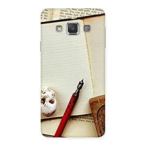 Delighted Little Diary Multicolor Back Case Cover for Galaxy A3