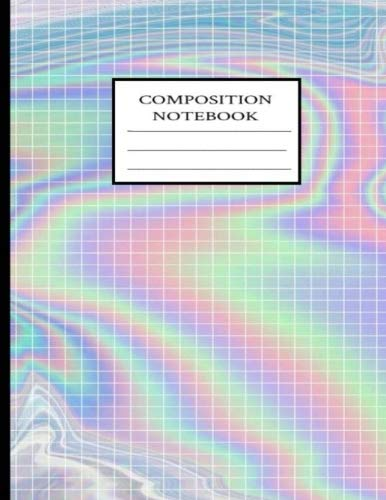 Composition Notebook: Squared Holographic Effect Composition Notebook  8 5''x11'' Extra Large College Ruled Notebook