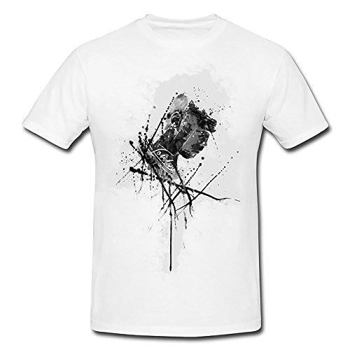Weiße Jordan-t-shirt (Michael-Jordan T-Shirt Herren, weiß mit Aufdruck)