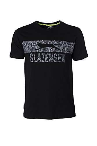 Slazenger Herren T-Shirt Schwarz