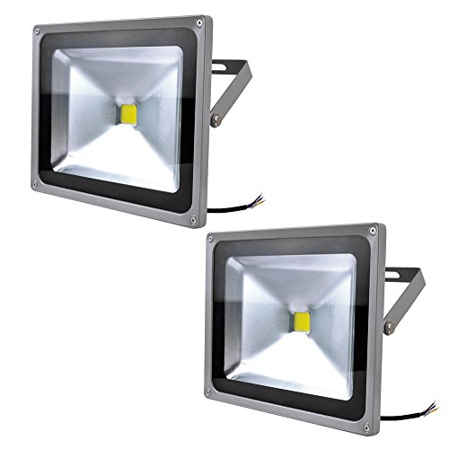 2X 10W 20W 30W 50W 100W 150W 200W 300W Projecteur à LED Projecteur Lampes Projecteurs Extérieure IP65 Blanc Froid(50W)