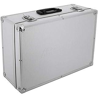 Aluminium- Koffer (LxBxH) 45 x 32 x 17,5 cm Alukoffer Koffer Farbe Silber/Alu Werkzeug- Kasten Box