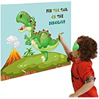 LIK Pin The Tail On The Dinosaur Game Birthday Party Supplies Favours Decorations for Kids Boys Party Game Dinosaur Gifts Set for Dinosaur Lovers