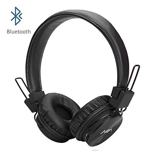 Invech Bluetooth Kinder Kopfhörer mit shareport, Wireless / Wired Noise Cancelling Über-Ohr-Kopfhörer, Faltbare Kinder-Headset mit integriertem Mikrofon zum Anrufen (schwarz) (Kinder Für Headset-mikrofon)