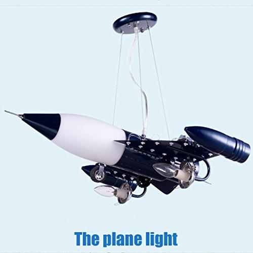Guo Kinderzimmer Schlafzimmer Lichter Kämpfer Kreative Kronleuchter Junge Aircraft Lichter Metall E14 Lampe Hafen