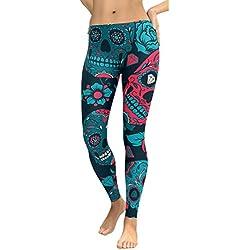 Pantalones Yoga Mujeres, ❤️Xinantime Pantalones de yoga de cintura alta para mujeres Running Fitness Leggings Pants Ropa de ejercicio (XL, ❤️Azúl)