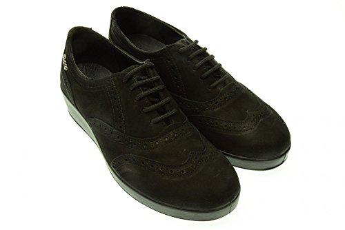 ENVAL SOFT donna sneakers con zeppa stile inglese 49480/00 37 Nero