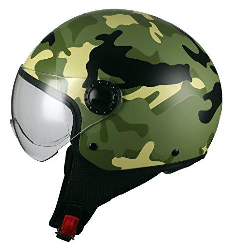 BHR-Casco-Moto-Demi-Jet-Linea-One-801-Camouflage-Verde-XL-60-cm