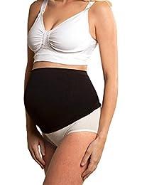 100% una mayor comodidad maternidad apoyo Band vientre cinturón blanco y negro Nude