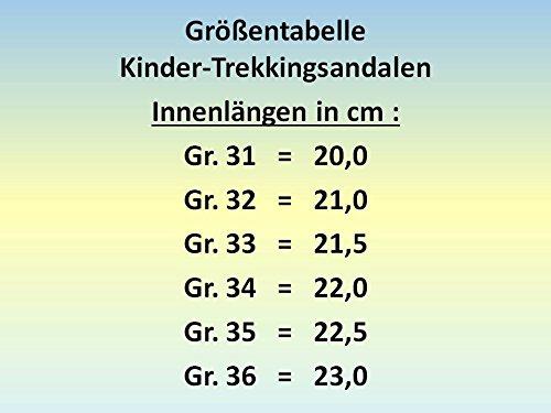Trekkingsandalen pour enfant à fermeture velcro, bleu foncé/orange taille 31–36 Bleu - Dunkelblau/Orange