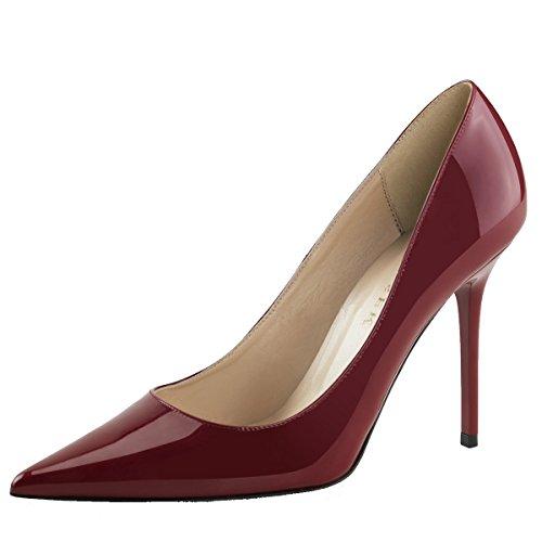 Stiletto-Pumps, Damen, Rot (rot) Rot (Rot)