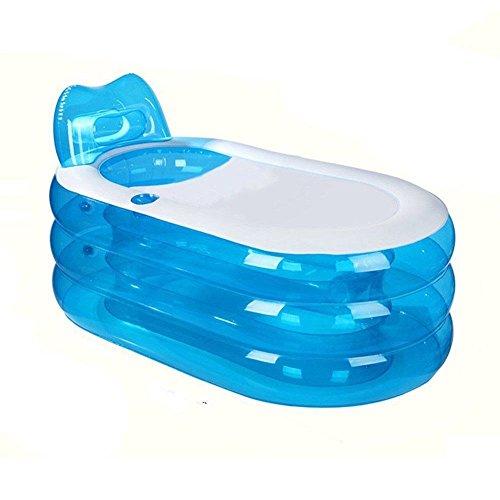 Erwachsene Spa PVC Badewanne warme aufblasbare Badewanne Faltbare bathtub Blau