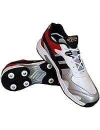 Aryans men White Cricket shoes
