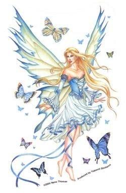 """Preisvergleich Produktbild Nene Thomas - Prelude In Blue Feminine Fairy Sticker - 4"""" x 7"""" - Weather Resistant, Long Lasting for Any Surface"""