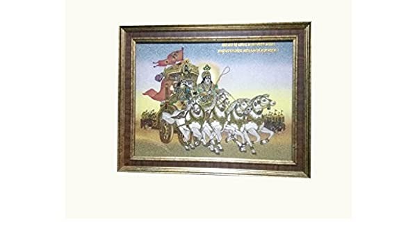 Buy Shree Handicraft Shri Krishna with Arjun (Mahabharat) Gemstone ...