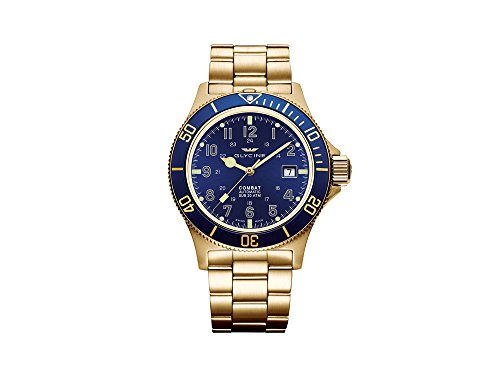 Glycine Combat sub Automatic Watch, GL 224, blu, 42 mm, GL0082