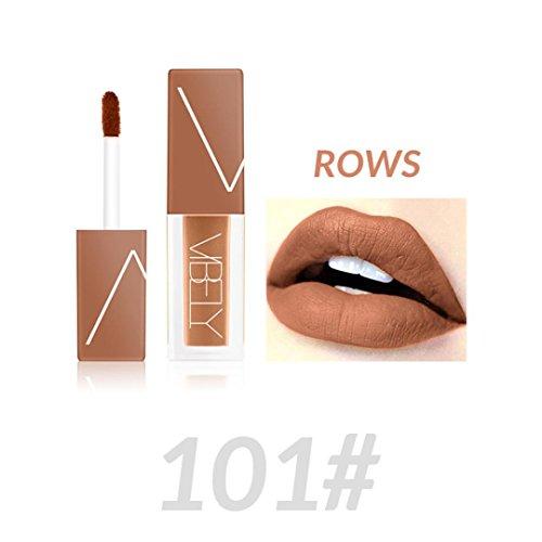 Lipgloss Matte, Huihong VIBELY flüssige Lippenstift Nicht stecken Tasse Nebel Gesicht Kosmetik sexy Lippen fünf Farbe optional (101#)