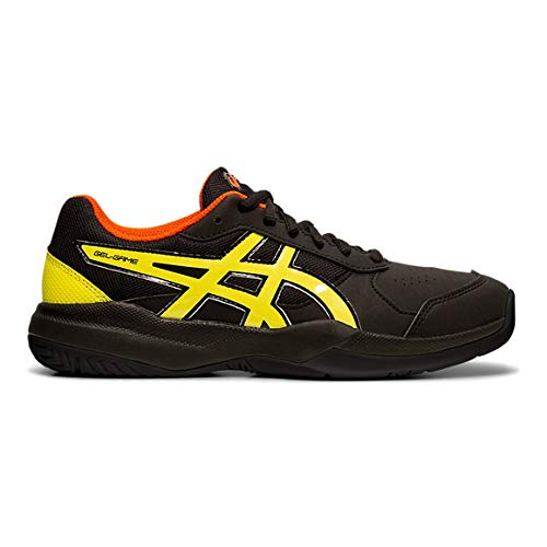ASICS Gel-Game 7 GS, Scarpe da Tennis Unisex Bambini, Nero (Black/Sour Yuzu 011), 38 EU