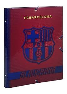 Futbol Club Barcelona- F.C Barcelona Carpeta Folio clasificadora, Color Azul/Granito (SAFTA 511572069)