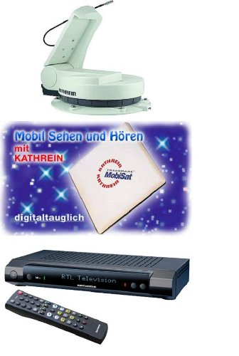 Preisvergleich Produktbild 360 ° SAT-Anlage - autom.Drehbar mit Receiver und Flachantenne - Holly® Produkte - STABIELO - holly-sunshade ®