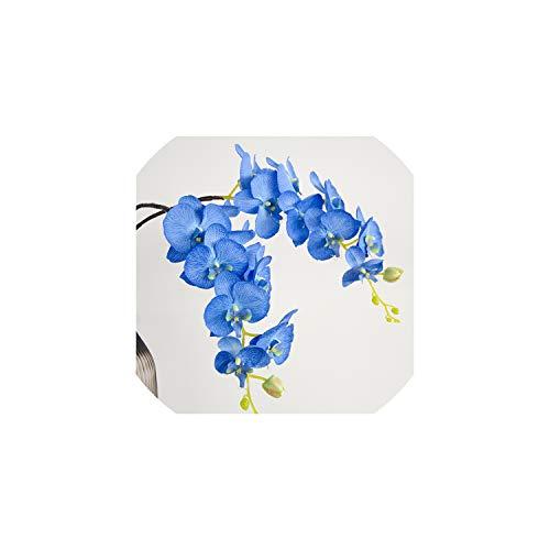 l Star-Artificial Flowers Künstliche Blumen 103cm Silk Orchidee Phalaenopsis Hochzeitsdeko Hintergrun Props Blumen-Anordnung 1 Pc, Blau (Silk Orchideen Bulk Flower)