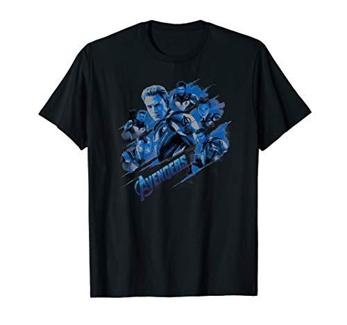 Marvel Avengers: Endgame Captain America Blue Heroes T-Shirt