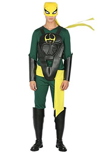 rren Grün Cosplay Outfit mit Maske Vest Zubehör für Erwachsene Verrücktes Kleid Kleidung (Iron Fist Kostüm)