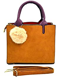 INKDICE Multicolor Suede Leather Sling Bag For Women